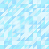 Nahtloses Muster des blauen Dreiecks Geometrischer Hintergrund Stockbild