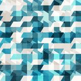 Nahtloses Muster des blauen Pixels Stockbild