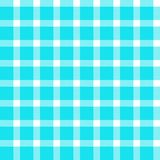 Nahtloses Muster des blauen Türkises des Plaids und der weißen Streifen lizenzfreies stockbild