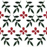Nahtloses Muster des Blumenaquarells Stockbild