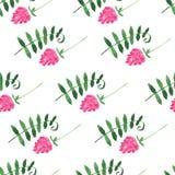 Nahtloses Muster des Blumenaquarells Stockbilder