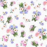 Nahtloses Muster des Blumenaquarells Stockfotografie