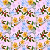 Nahtloses Muster des Blumenvektor-Designs vektor abbildung