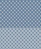 Nahtloses Muster des Blumenvektors angespornt durch azulejos vektor abbildung