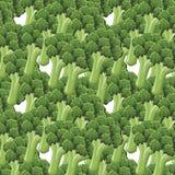 Nahtloses Muster des Brokkolis Lizenzfreie Stockfotos