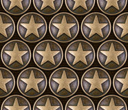 Nahtloses Muster des Bronzesternes Lizenzfreie Stockfotos