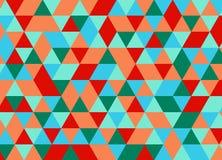 Nahtloses Muster des bunten geometrischen Dreiecks Abstraktes Vektorba Stock Abbildung