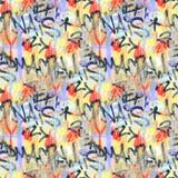 Nahtloses Muster des bunten Hintergrundes der Graffiti Graffitihandart kritzelt Straßenkunstillustration Lizenzfreie Stockfotos