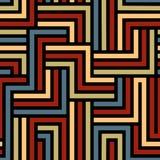 Nahtloses Muster des bunten Labyrinths Stockbilder