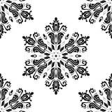 Nahtloses Muster des Damastes entziehen Sie Hintergrund Stockbild