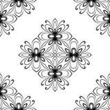 Nahtloses Muster des Damastes entziehen Sie Hintergrund Stockfotos