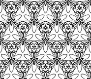 Nahtloses Muster des Damastes entziehen Sie Hintergrund Lizenzfreies Stockbild