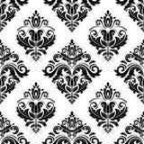 Nahtloses Muster des Damastes entziehen Sie Hintergrund Stockfoto