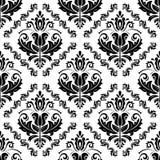 Nahtloses Muster des Damastes vektor Orient-Hintergrund Lizenzfreie Stockbilder