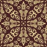 Nahtloses Muster des Damastes vektor Orient-Hintergrund Stockbilder