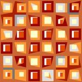 Nahtloses Muster des dekorativen geometrischen Patchworks. Lizenzfreie Stockbilder
