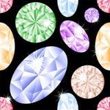 Nahtloses Muster des Diamanten Lizenzfreie Stockfotografie