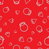 Nahtloses Muster des Diamantringes Lizenzfreies Stockfoto