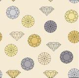 Nahtloses Muster des Diamantschmucks Stockbild