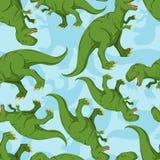 Nahtloses Muster des Dinosauriers Dino-Beschaffenheit vektor abbildung