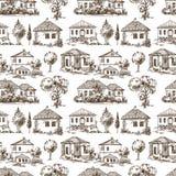 Nahtloses Muster des Dorfs vektor abbildung