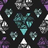 Nahtloses Muster des Dreiecks Stockfotografie