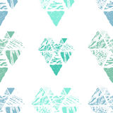 Nahtloses Muster des Dreiecks Lizenzfreies Stockbild