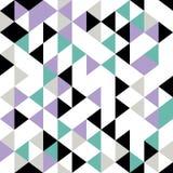 Nahtloses Muster des Dreiecks mit geometrischer abstrakter bunter Weinlesevektorillustration für die Modetextildruck und -verpack vektor abbildung