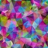 Nahtloses Muster des Dreiecks von geometrischen Formen. Buntes Mosaik b Stockbild