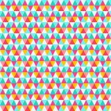 Nahtloses Muster des Dreiecks Zusammenfassungs-Vektor-Retro- Hintergrund lizenzfreies stockfoto