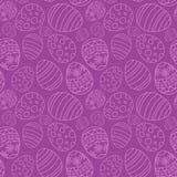 Nahtloses Muster des einfachen Vektors mit dekorativen Eiern stock abbildung