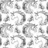 Nahtloses Muster des Einhorns Stockfoto