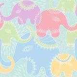 Nahtloses Muster des Elefanten. Stockbild