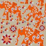 Nahtloses Muster des Elefanten mit Blume Lizenzfreies Stockfoto