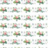 Nahtloses Muster des eleganten Aquarells mit Blumen Stockbild