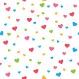 Nahtloses Muster des farbenreichen Herzliebesform-Vektors Lizenzfreies Stockfoto