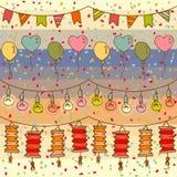 Nahtloses Muster des Feiertagsdekors Lizenzfreie Stockbilder