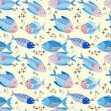 Nahtloses Muster des Fischvektor-Designs lizenzfreie abbildung