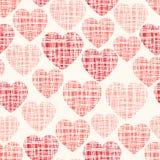 Nahtloses Muster des flüchtigen Vektors mit Herzen Stockbilder
