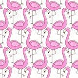 Nahtloses Muster des Flamingos Stockbilder