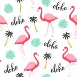 Nahtloses Muster des Flamingos Stockbild