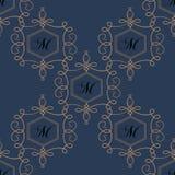 Nahtloses Muster des Flourish in den dunklen Farben Stockbilder