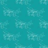 Nahtloses Muster des Flugzeuges Stockfotos