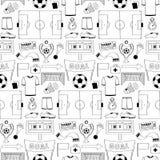 Nahtloses Muster des Fußballs Stockfotos