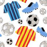 Nahtloses Muster des Fußballs Stockfoto