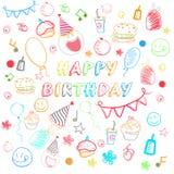 Nahtloses Muster des Geburtstages Stockbild
