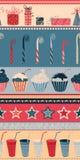 Nahtloses Muster des Geburtstages Stockfoto