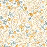 Nahtloses Muster des gelben Trockenblumengestecksamen-Kopfes vektor abbildung