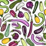 Nahtloses Muster des Gemüses Lizenzfreie Stockfotografie