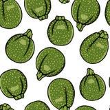 Nahtloses Muster des Gemüses Lizenzfreies Stockfoto